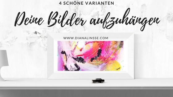 Bilder aufhängen – 4 schöne Varianten zur Anordnung