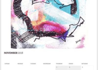 Monatsansicht - 2018 Color Twisted Calendar by Diana Linsse