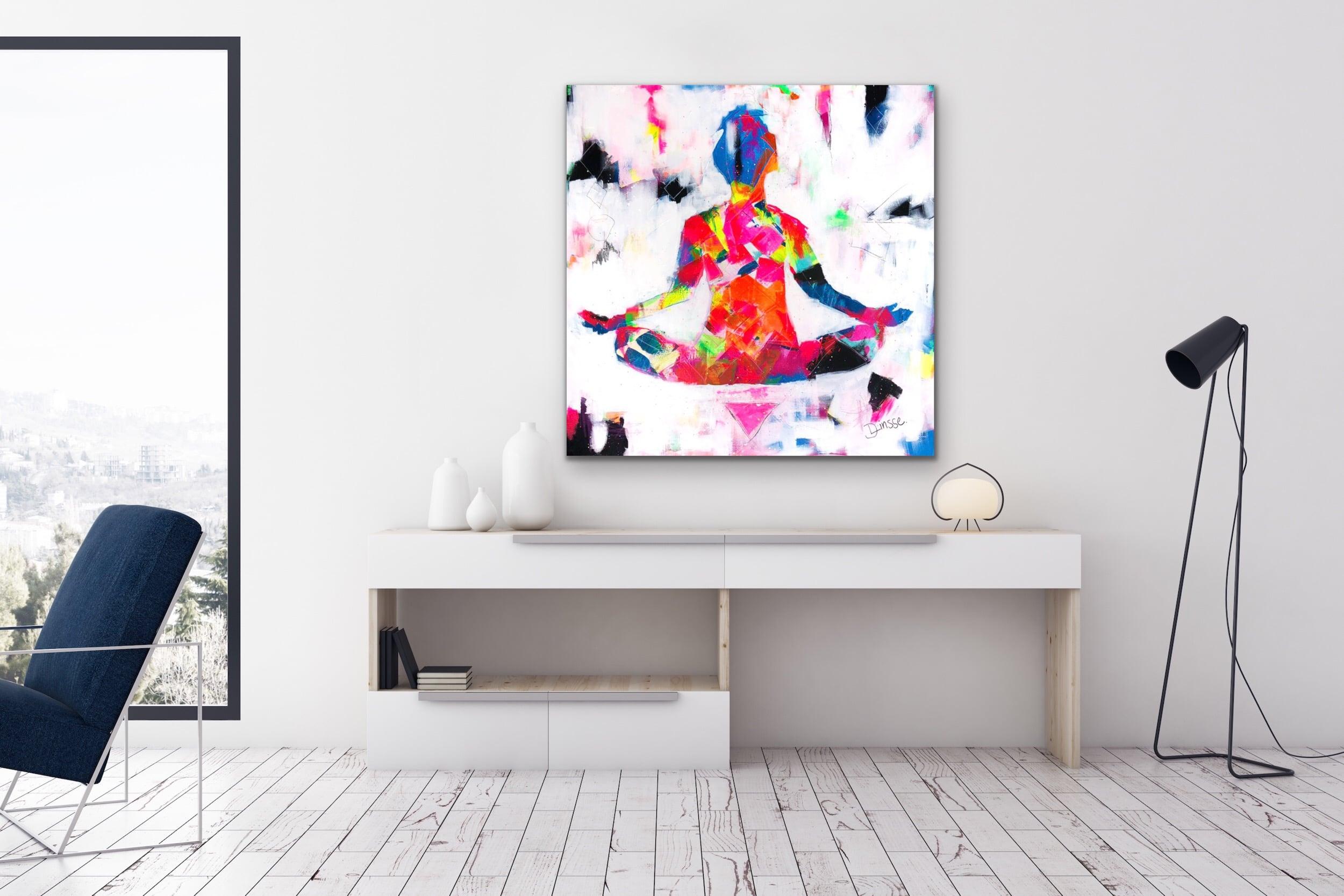 Harmony V - Mixed Media Painting by Fine Artist Diana Linsse