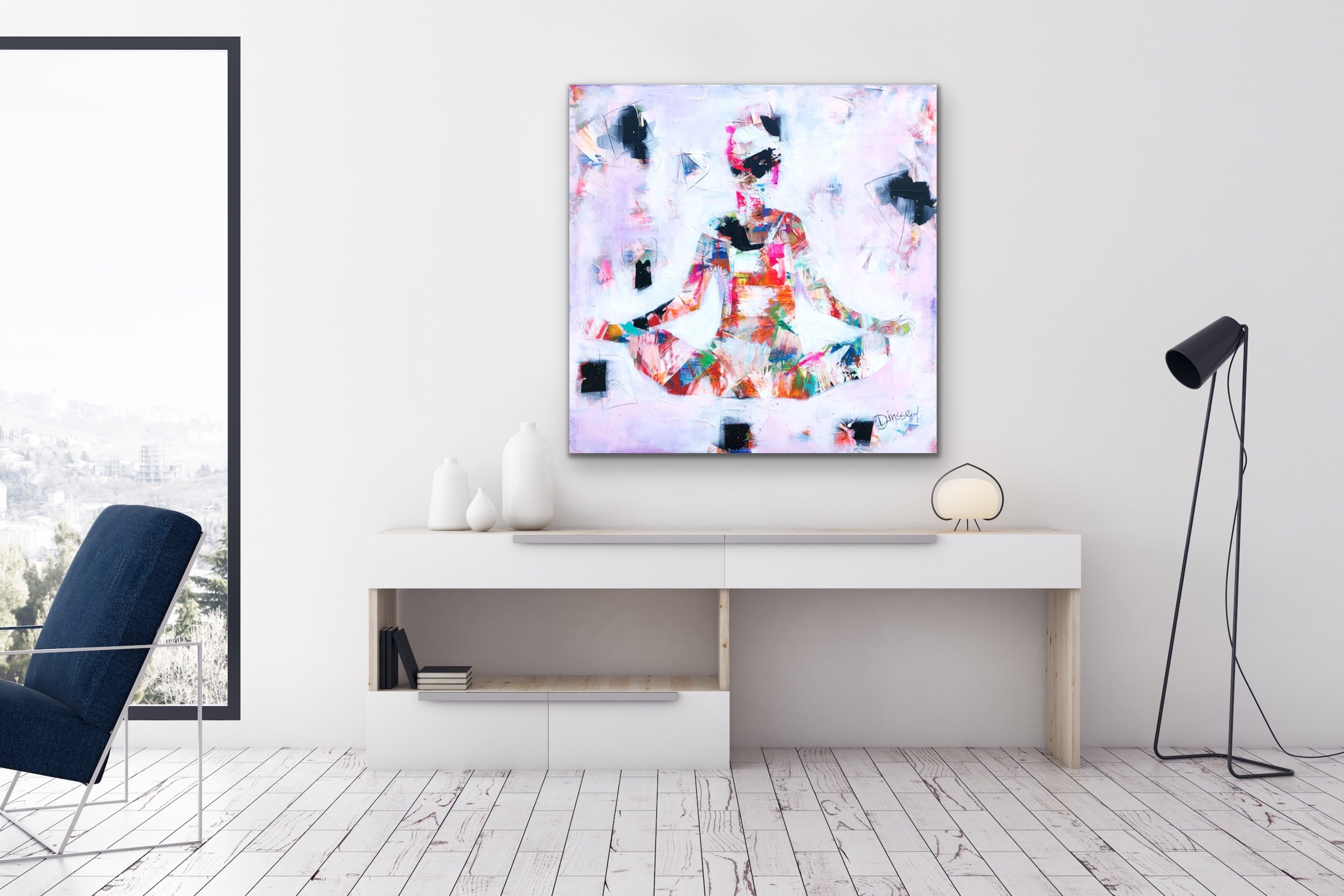 Harmony VI - Mixed Media Painting by Fine Artist Diana Linsse