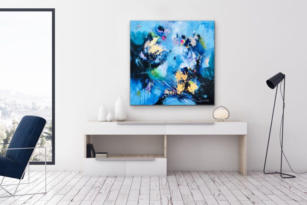 Blessed - original Kunstwerk Acryl auf Leinwand Abstract Landscape by Diana Linsse