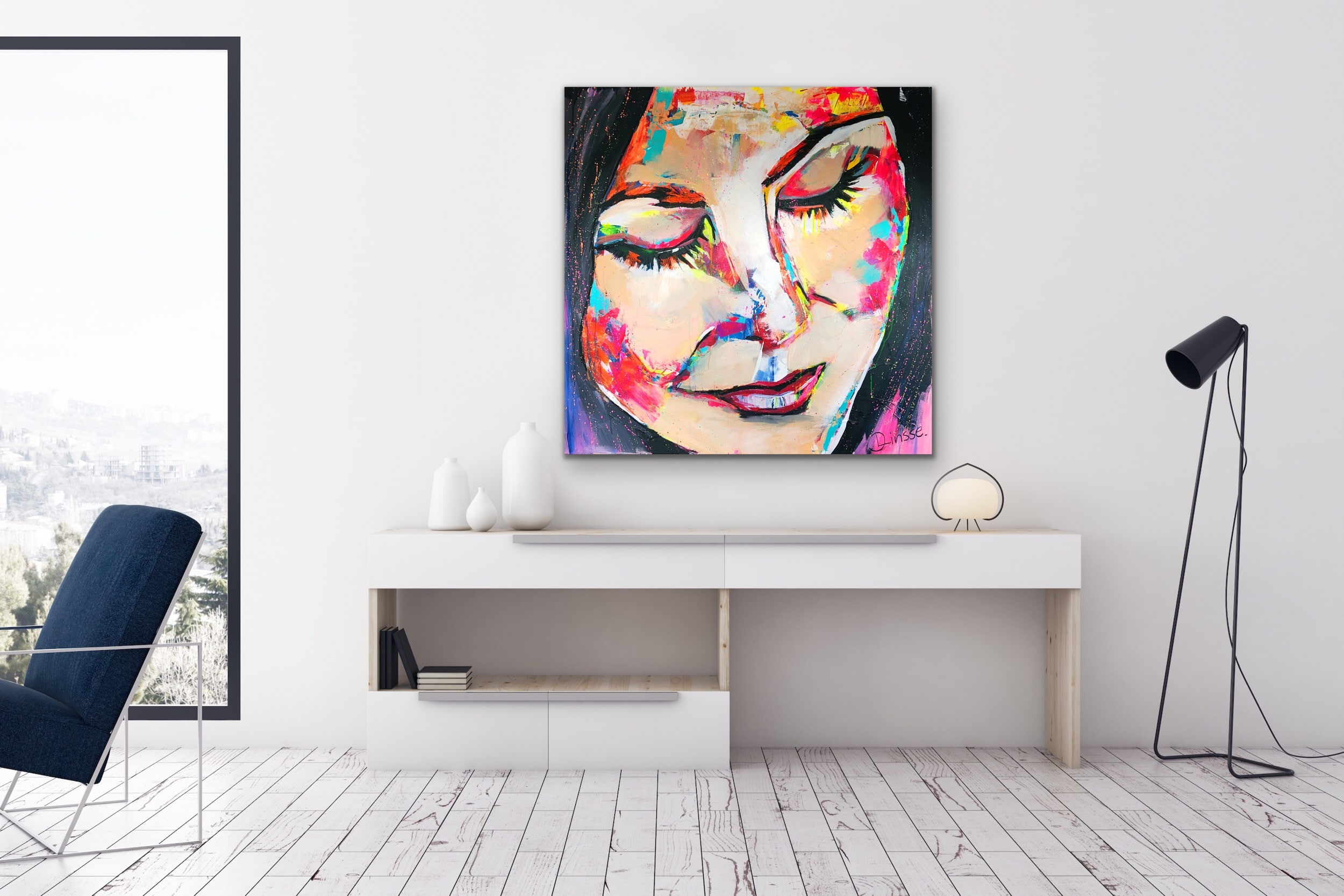 Mirror - Mixed Media Painting by Fine Artist Diana Linsse
