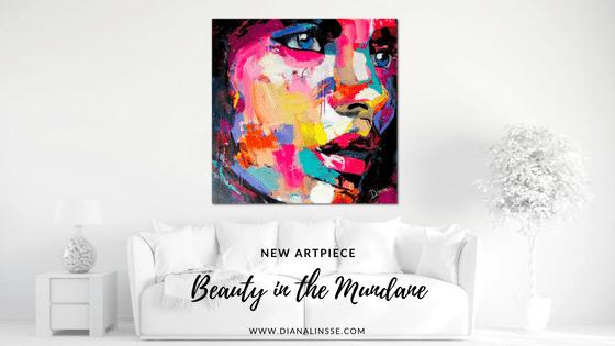 New Artpiece - Beauty in the Mundane - Acrylic and Charcoal on 100x100 cm Canvas - Inspiration im Alltäglichen